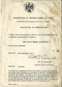 registration of business names act 1916